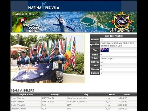 2014 World Offshore Championships   West Australian Perth Game fishing Club Team highlights
