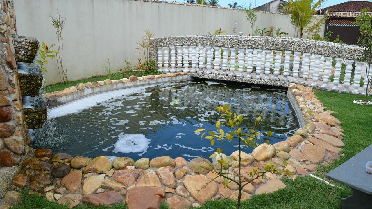 Tanque lago de pesca com cria o de til pia constru do for Como criar cachamas en tanques plasticos