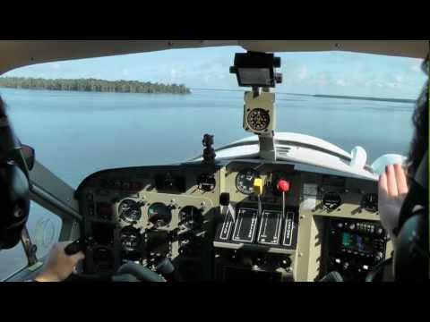 DHC-2 Beaver amphibian floatplane Water Take-off and Landing in Florida