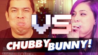 """WHAT A MOUTH FULL!"" Chubby Bunny Challenge - Husband vs Wife"