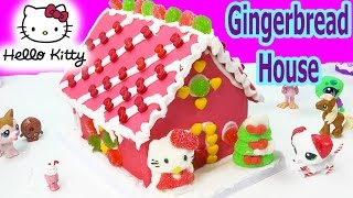 Hello Kitty Holiday Candy Pink Gingerbread Cookie House