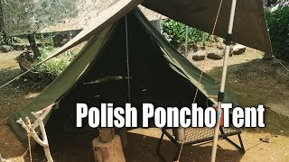 ????????????? How to set up Polish Lavvu Poncho Tent & Polish Military Poncho Tent Review - mp3toke
