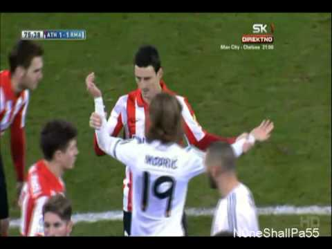 Ronaldo red card against Bilbao, February 2nd, 2014 HD