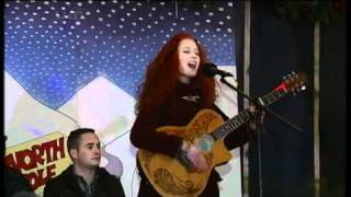 Janet Devlin turns on the Christmas lights in Gortin