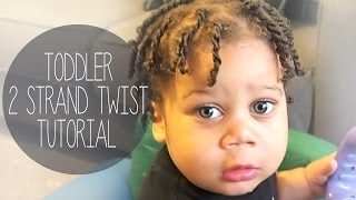 Toddler Hair Tutorial- 2 STRAND TWISTS