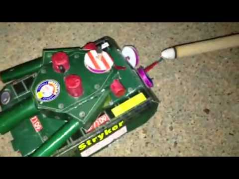 Stryker Tank Firework Review - New Years 2013 Fireworks