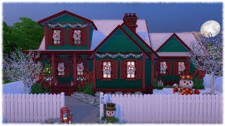 The Sims 4: Speed Build // CHRISTMAS HOUSE // NO CC