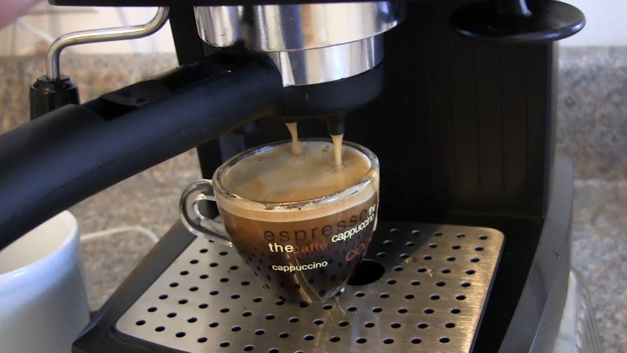 Bajaj Espresso Coffee Maker Demo : Review and Demo for the De Longhi EC155 15 BAR Pump Espresso and Cappuccino Maker - YouTube