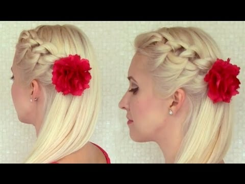 knotted headband braid tutorial braided hairstyle for
