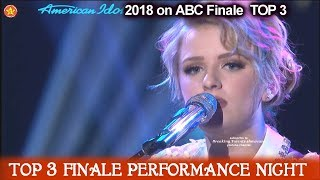 """Maddie Poppe sings Original  """"Don't Ever Let Your Children Grew Up""""  American Idol 2018 Finale Top 3"""