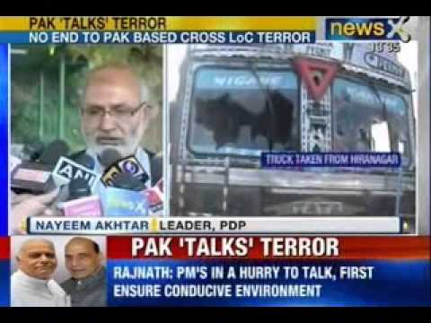 News X : CM Omar Abdullah - Terror attack is an attempt to derail Indo-Pak talks