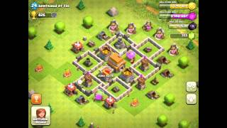 BEST Defense Base For Town Hall Level 5 Clash Of Clans
