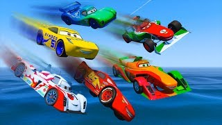 Cars Party Cruz Ramirez Lightning McQueen Francesco Bernoulli Shu Todoroki Carla Veloso and Friends
