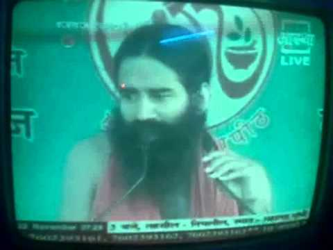 Baba Ramdev's view about Young Indian TV News Anchor Manoj Tibrewal Aakash