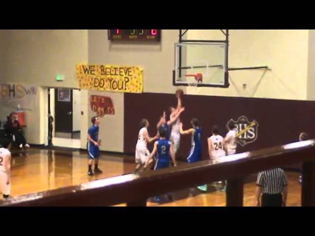 3-9-13 - Kyle Rosenbrock grabs the board and scores (Brush 12, Moffat County 10)
