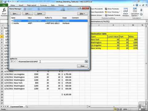 how to create a lookup table in excel 2010
