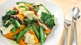Thai Mixed Veg Stir-Fry Recipe ผัดผักรวม - Hot Thai Kitchen!