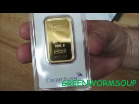 5 Ounces GOLD!!! - APMEX Order Unboxing - Credit Suisse Gold Bars