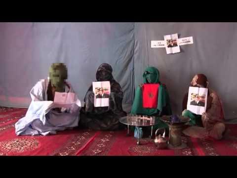 لأول مرة وبالصوت والصورة صور الملك محمد السادس والعلم الوطني بمخيمات تنذوف