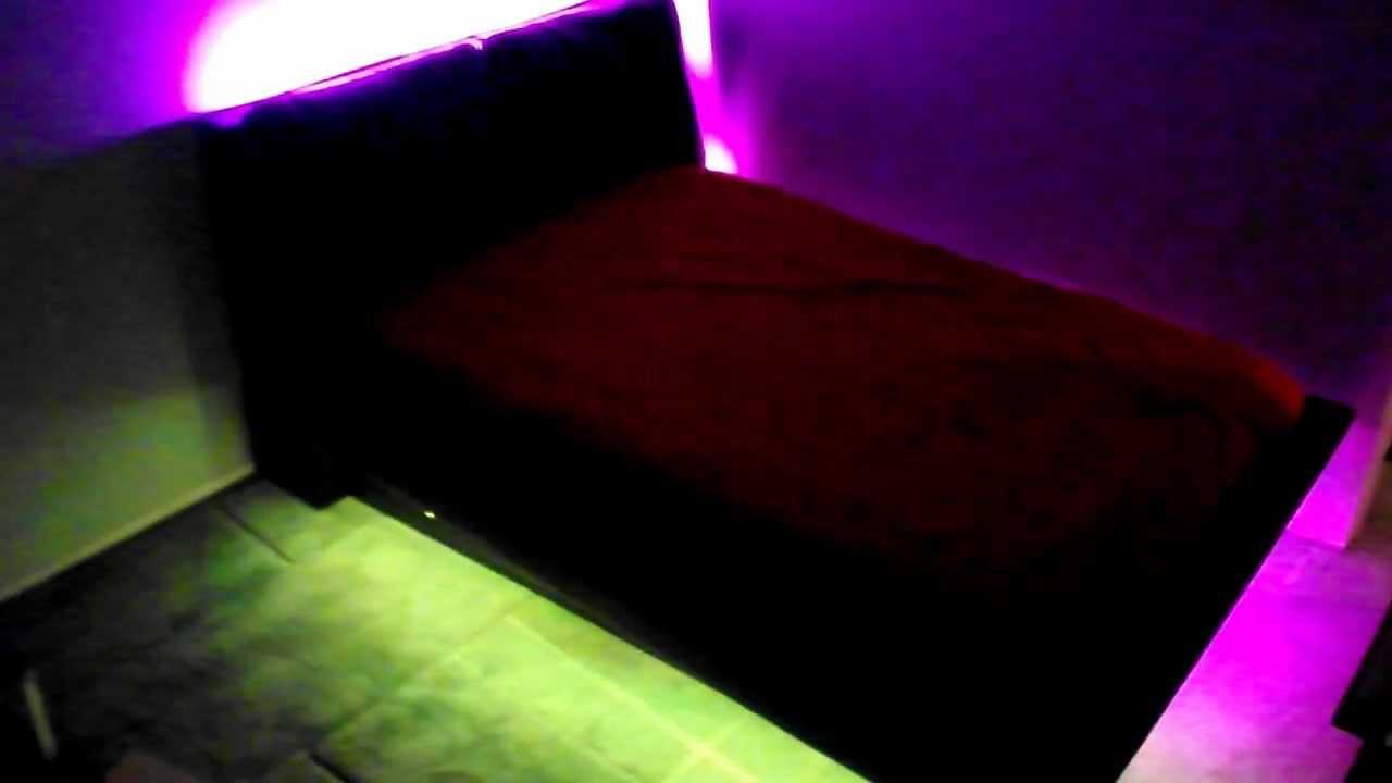 Bedroom Under Bed LED Light Kit - YouTube