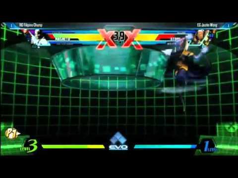 UMVC3 EVO 2014 Winners Finals Filipino Champ vs Justin Wong