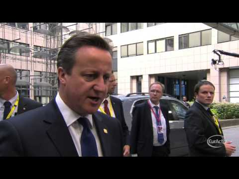 Cameron: Juncker's election as Commission president is