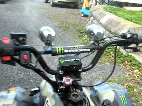 VTT Monster Energy vidéo modifications