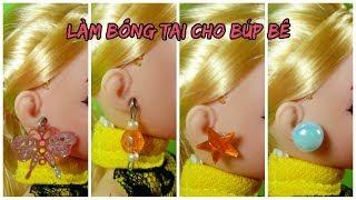 Miniature Earrings for dolls / DIY dolls / Cách đơn giản làm bông tai cho búp bê