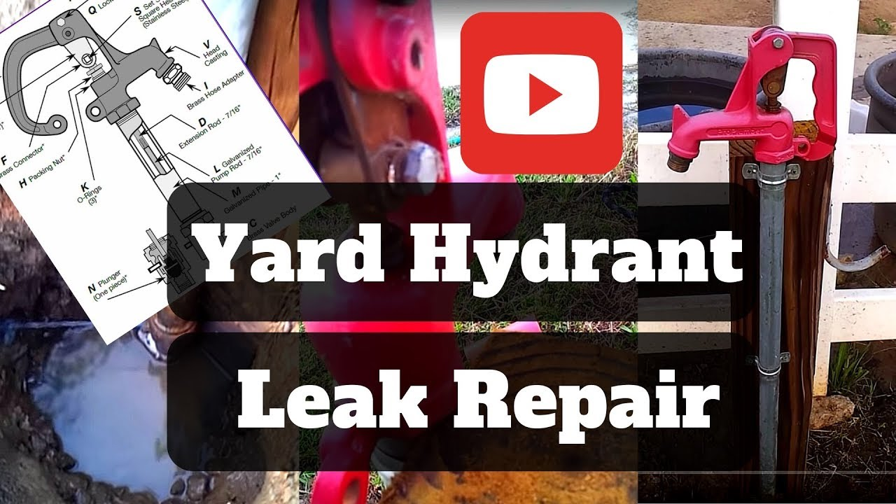 Frost Free Yard Hydrant Leak Repair Youtube