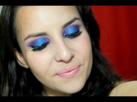 Tutorial: Maquiagem Azul com Roxo