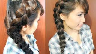 How To: Side Dutch Braid Hairstyle For Medium Long Hair