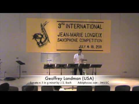 3rd JMLISC: Geoffrey Landman (USA) Sonata n.1 in g minor by J.S. Bach
