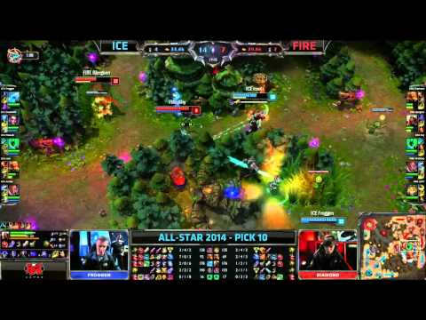 Ice (Froggen Anivia) VS Fire (Bjergsen Zed) Pick 10 Highlights - Allstars Paris 2014