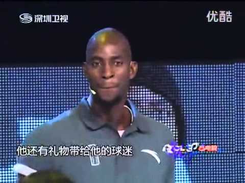 Kevin Garnett plays ping pong on Chinese show