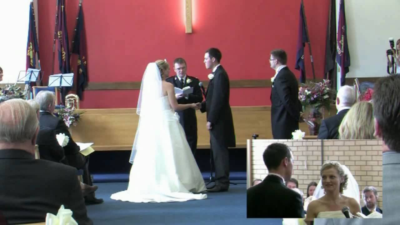 salvation army wedding ceremony youtube