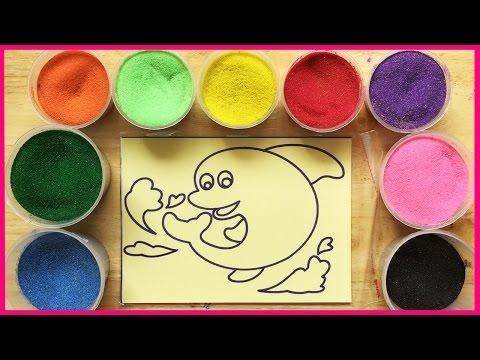 Đồ chơi trẻ em TÔ MÀU TRANH CÁT HÌNH CÁ HEO Colored Sand Paiting (Chim Xinh)