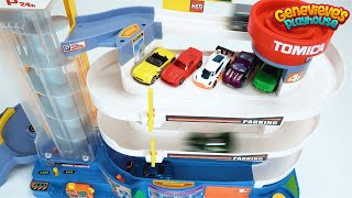 Montando una pista de coches infantil