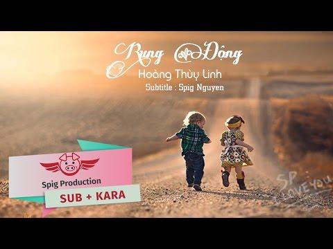 Rung Động - Hoàng Thùy Linh | lyrics + Sub Kara [ Spig Production ]