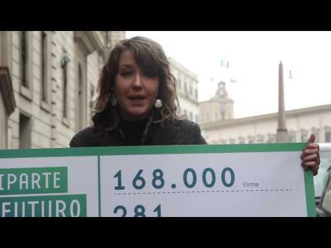 Riparte il futuro consegna 168.000 firme ai Saggi nominati dal quirinale