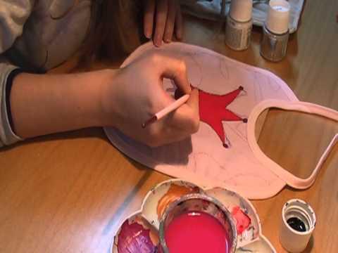 baberos pintados en tela/  painting baby clothes
