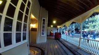 Knoebels Haunted House POV HD Dark Ride Front Seat On Ride