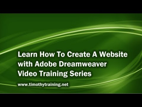 1 - Introduction to Dreamweaver CS5 - Part 1