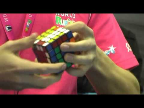 5x5 Rubik's cube world record single 56.22, and average 59.94