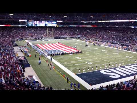 St Louis Rams vs Tennessee Titans 11/3/13 National Anthem
