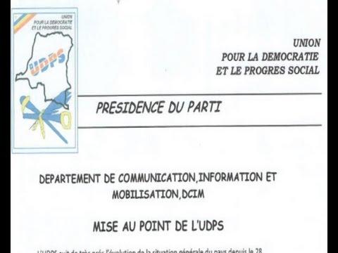 JOSEPH KAPIKA LE SIGNATAIRE DE LA LETTRE POLÉMIQUE DE L'UDPS RÉAGIS SUR EDTV