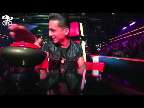 Alejandro cantó 'Sin medir distancia' de Diomedes Díaz  – LVK Colombia – Audiciones a ciegas – T1