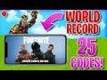 FORTNITE MOBILE CODE GIVEAWAY WORLD RECORD STREAM HIGHLIGHTS 7