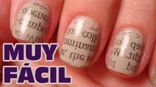 Decorar tus uñas con períodicos