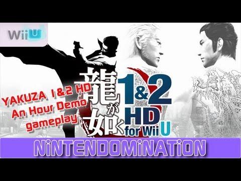 WiiU - YAKUZA 1&2 HD - An Hour Demo gameplay