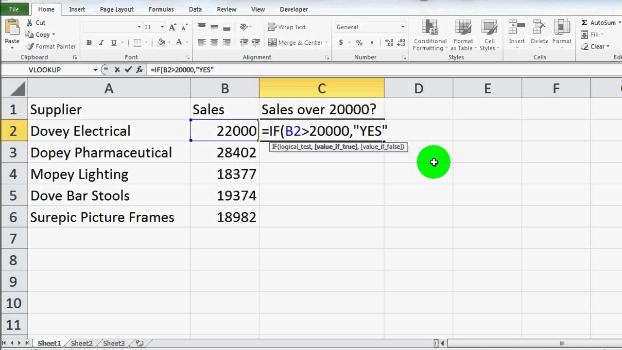 how to read if statements in excel